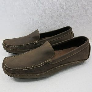 Clarks Suede Leather Driving Moccasins Loafer 10.5